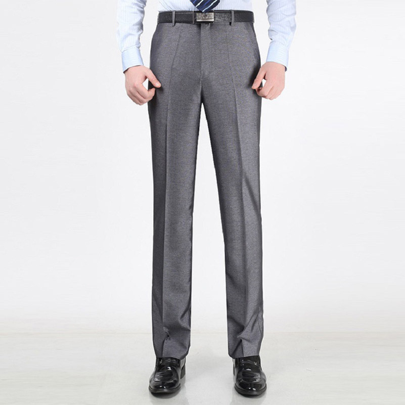 Men Grey Office Pants Promotion-Shop for Promotional Men Grey ...