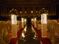 Wedding carved pillar wedding stand without LED light wedding t road column PVC expansion sheet road lead