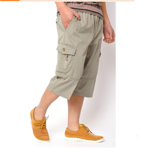 XL-6XL!!! In The Summer of 2017 The New Men's Fashion High-Grade Pure Cotton Brand Seven Yards Leisure Loose Men Shorts