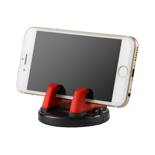 Car Ornament Universal Phone Holder 360 Degree Rotation PC + Silicone Dashboard Decoration For GPS Holder Cell Phone 75mmx45mm