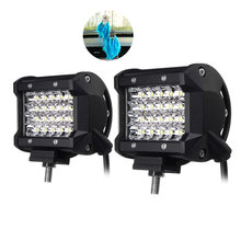 2pcs Foggy Lights 72W Car Fog Lights IP68 Waterproof Auto Back Light LED Driving Work Light White 24PCS LED Chips Spotlight(China)