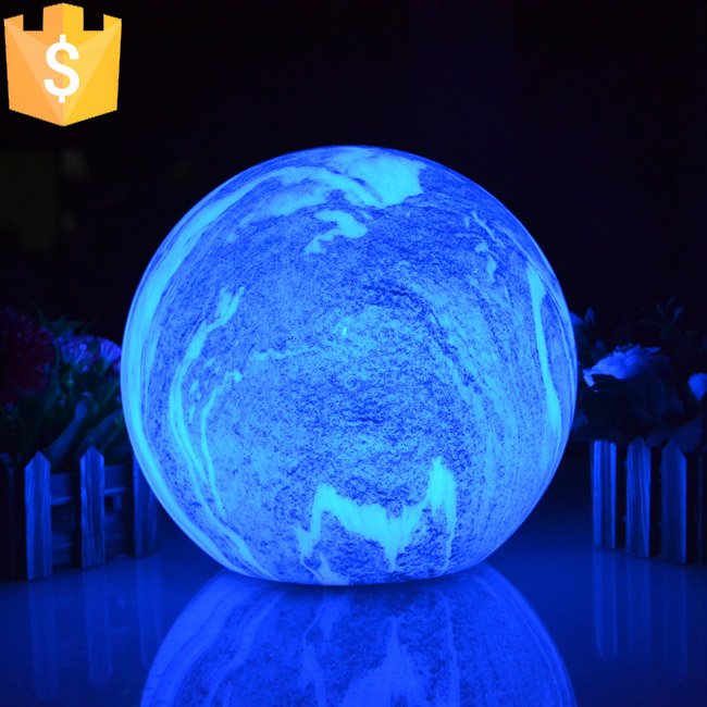 25cm LED 16 Color Changing Ball New Modern Luxury Livingroom Restaurant Decorative Cordless Table Lamp With Remote 12pcs/lot ...