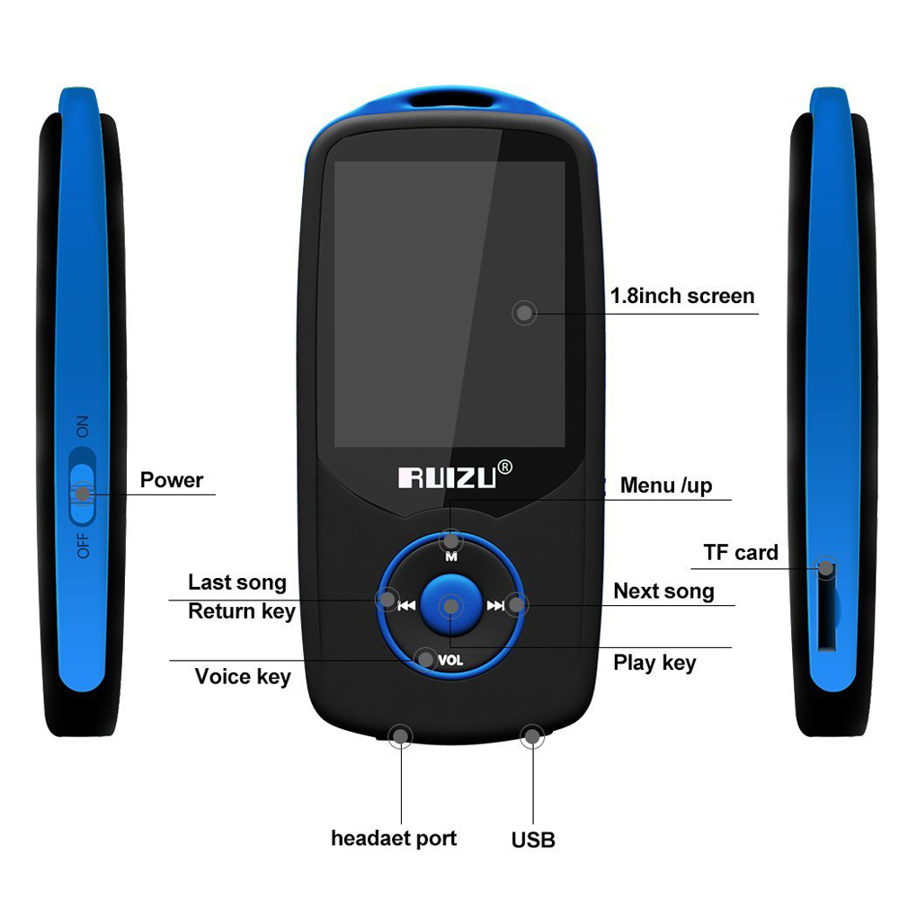 Universal Mp3 Wireless Bluetooth LCD Screen Voice Radio Audio Recorder E-Book FM Hifi Mini Sports Running Music Player