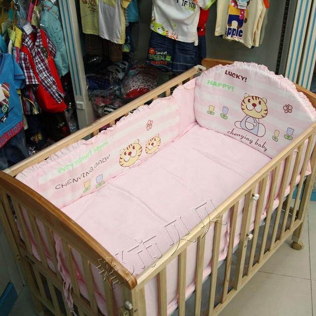 € 71.88 |4 pcs tour de lit bébé bedding set pour filles berceau pare chocs,  nouveau né bébé pare chocs lit bébé bedding définit nouveau né ...