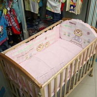 4PCS New Arrival Cheap Baby Bedding Set For Girls Crib Cot Quilts Bumpers Newborn Baby Bedding