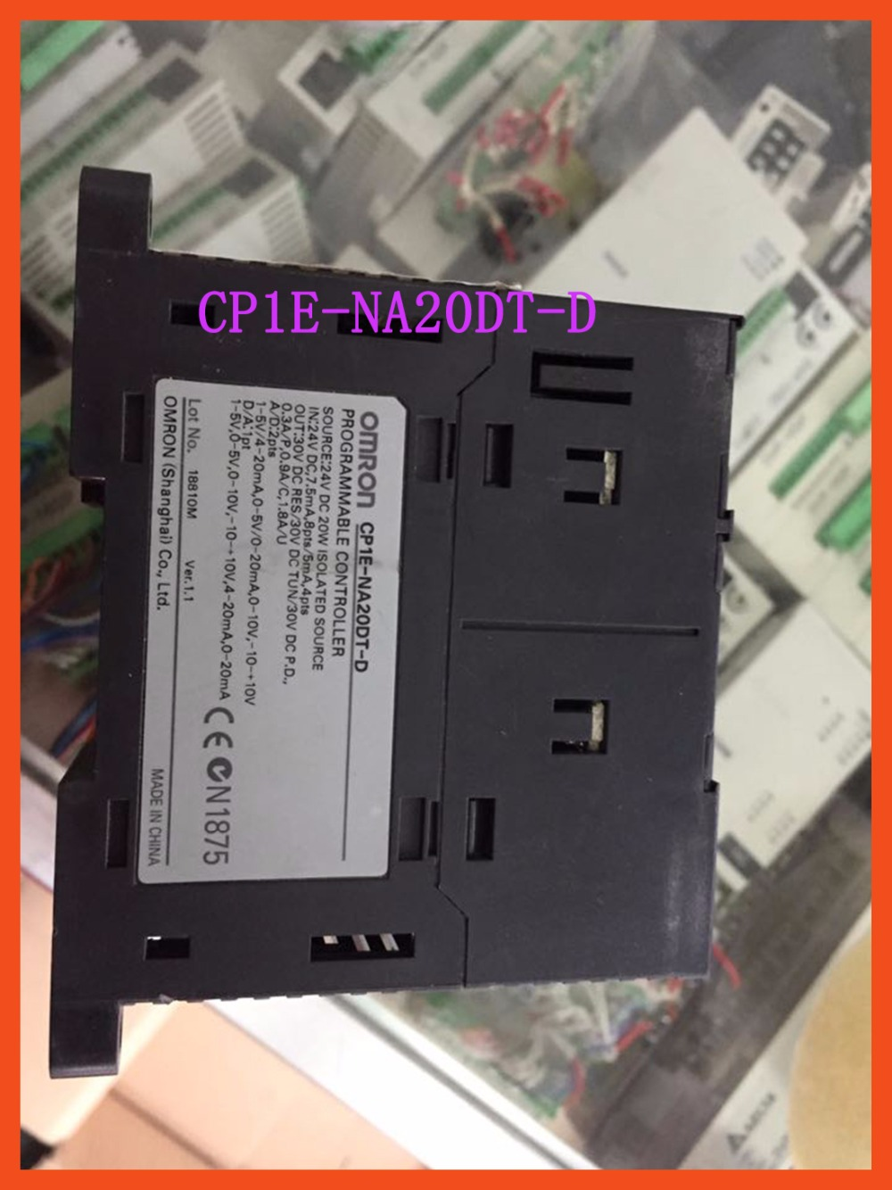 New Original CP1E-NA20DT-D CP1E PLC CPU for Omron Sysmac 20I/O 12DI 8DO Transistor CP1E NA20DT new original regulator lr 1 8 d o mini 162590
