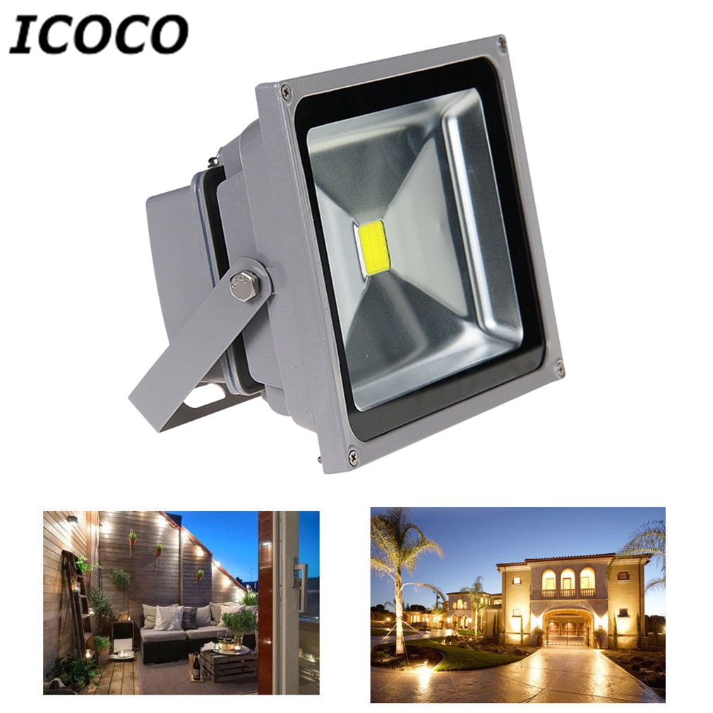 ICOCO 1PCS 30W LED SMD Warm White Flood Light Outdoor Waterproof IP65 Security Floodlight High Quality Wholesale Drop Shipping 2017 new ultrathin led flood light 70w warm white ac220v waterproof ip65 floodlight spotlight outdoor lighting free shipping