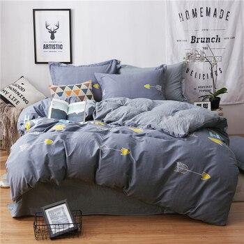 2018 cotton Queen King size Bedding Set Soft Bedclothes Luxury Duvet/Quilt Cover Bed Linen sheet set 4 Pieces Bedding Sets