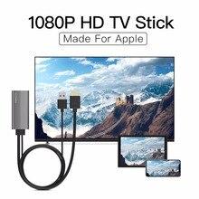 GGMM llave electrónica de 1080P HDMI, TV Stick AirPlay Mirroring a TV/proyector/Monitor, receptor Dongle de pantalla para iOS y iPhone