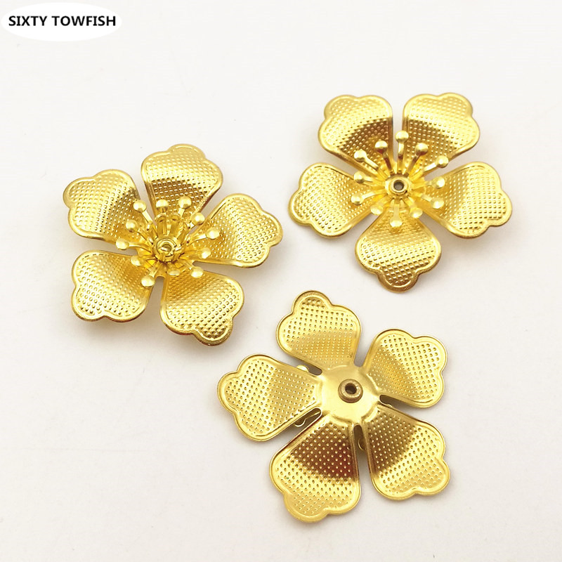 20PCS/lot 29mm Original Brass Components Flowers Slice Charms Jewelry DIY Accessory Findings B10038