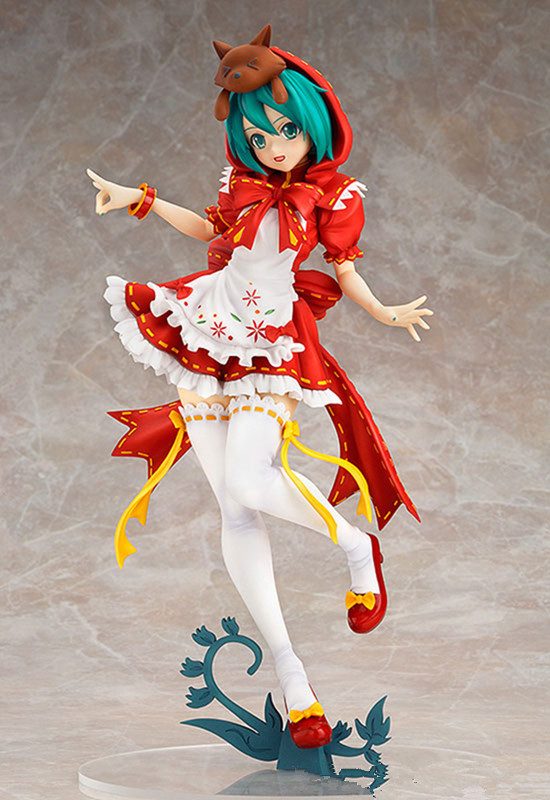 New 23cm PVC Hatsune Miku Little red riding hood doll <font><b>sexy</b></font> girl Action Figure Collectible model Toy image