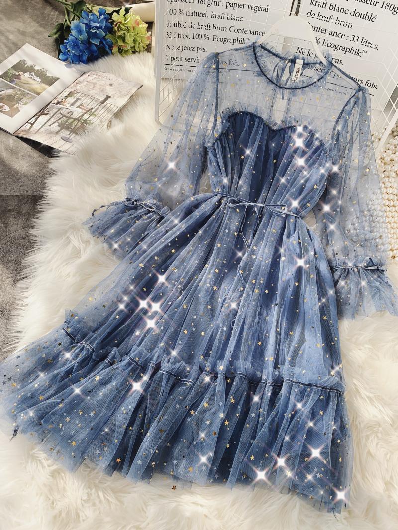 Gauze Two Piece Midi Dress 9