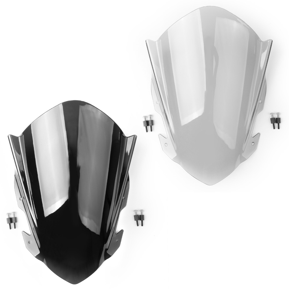 Areyourshop Motorcycle Double Bubble Windscreen Windshield Screen for KTM 390 RC390 2014 2017 Motorcycle Accessories Covers