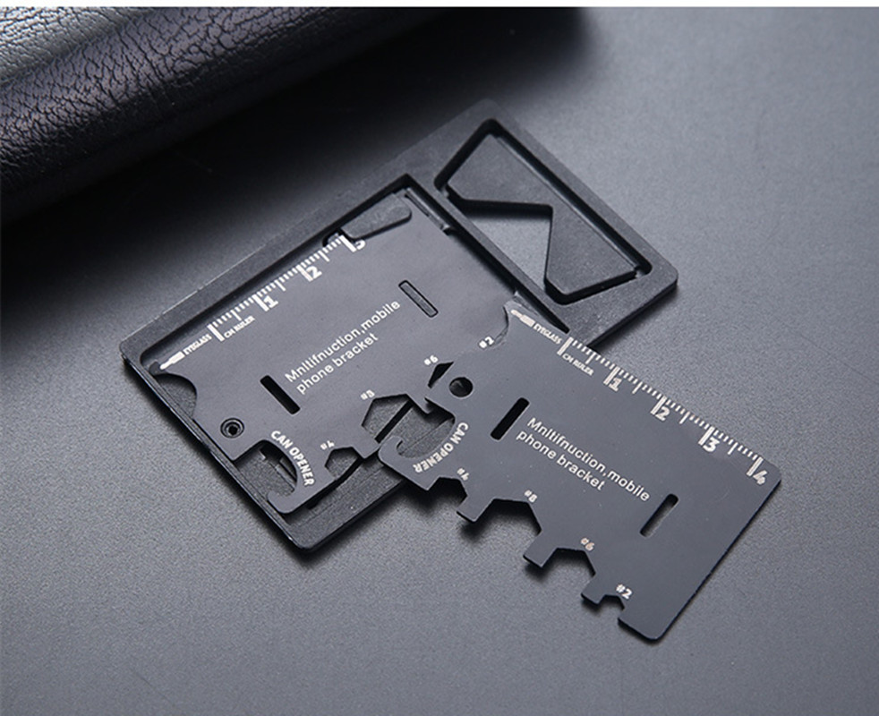 Outdoor Camping Supplies Multi-function Army Knife Card Mobile Phone Bracket Credit Card Portable Tool Card Folding Knife