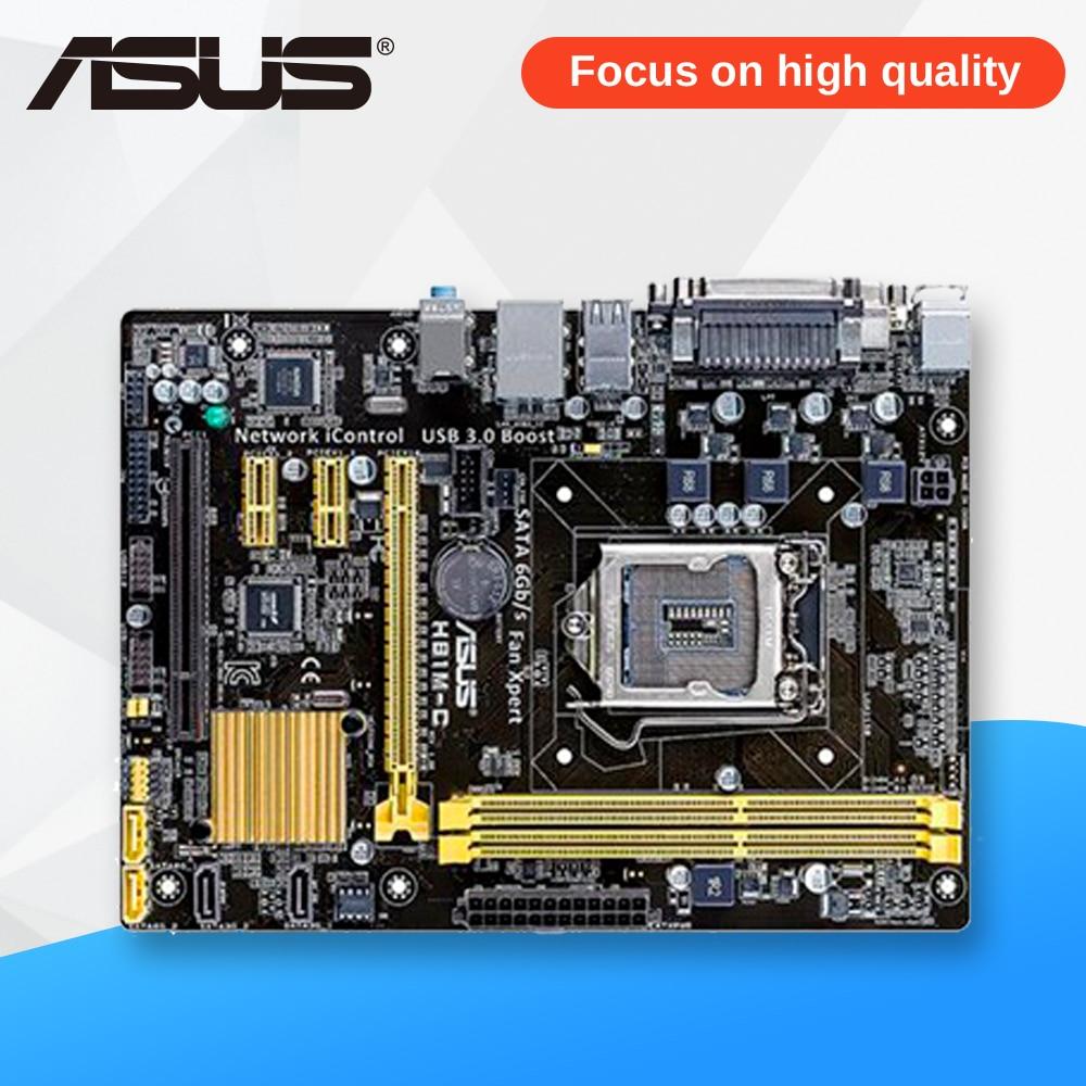 все цены на Asus H81M-C Desktop Motherboard H81 Socket LGA 1150 i7 i5 i3 DDR3 16G SATA3 USB3.0 Micro-ATX
