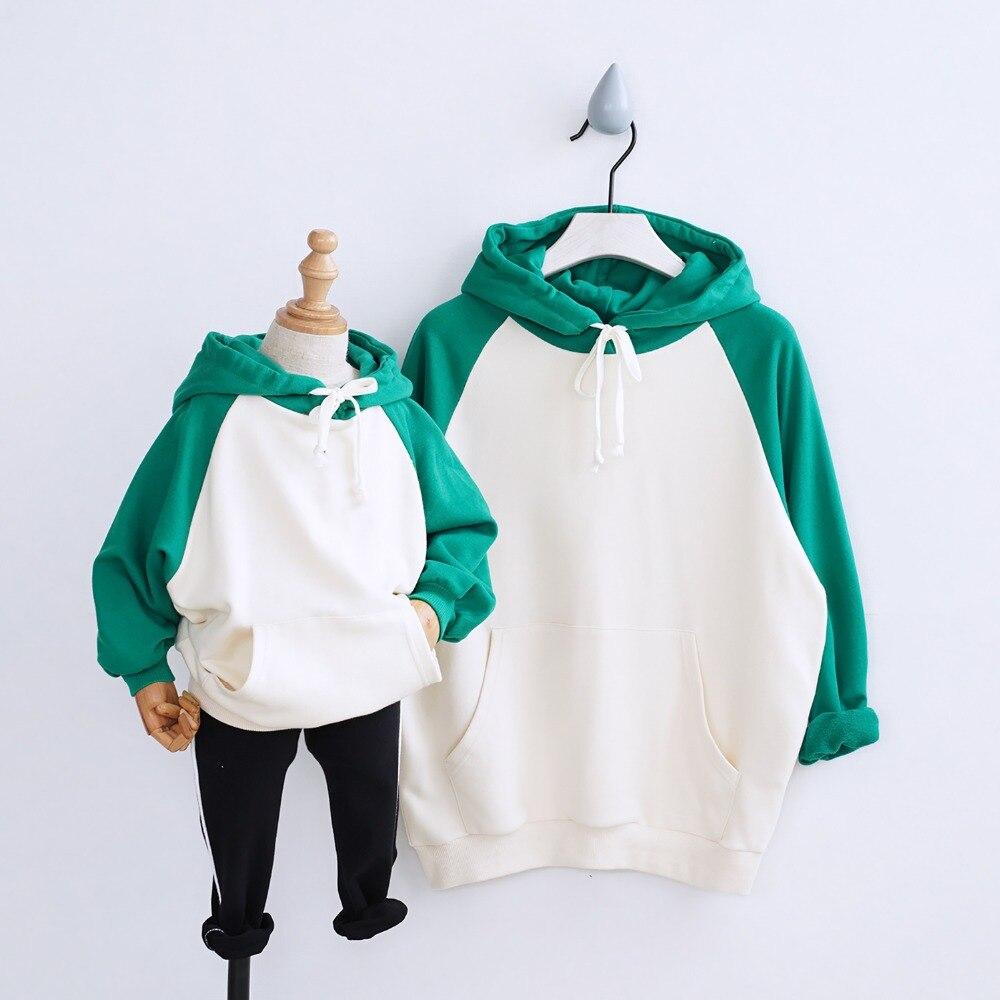 HT2236 printemps fille garçon vêtements automne mère bébé sweat enfants Parent-enfant Costume famille correspondant tenues sweat à capuche enfants