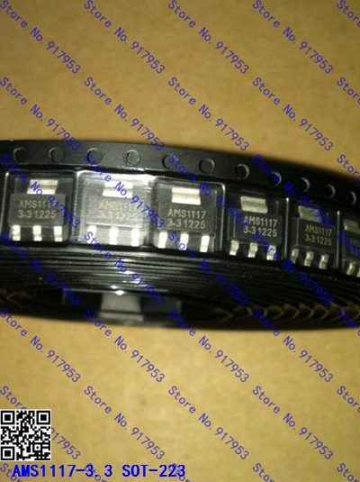 10pcs/lot AMS1117-3.3V AMS1117-3.3 AMS1117 LM1117 1117 SOT-223 New Original In Stock