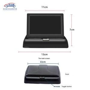 Image 5 - Складной ЖК монитор для парковки автомобиля, 4,3 дюйма, зеркало заднего вида, резервный дисплей, 2 видеовхода, камера заднего вида, DVD