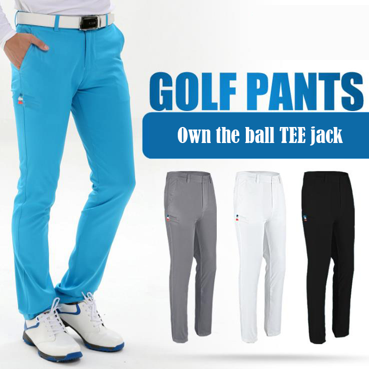 2018 new PGM Golf pants mens slim pants shorts Golf summer ball plug TEE pants