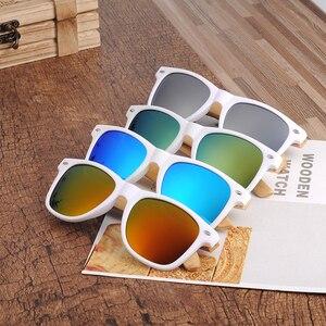 Image 5 - BOBO BIRD  Women Bamboo Wood Sunglasses Polarized White Square Frame Vintage Glasses oculos de sol feminino C CG007