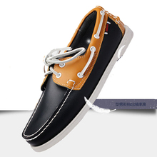 Genuine Leather Men Boat Shoes Luxury brand Design Hand Sewi