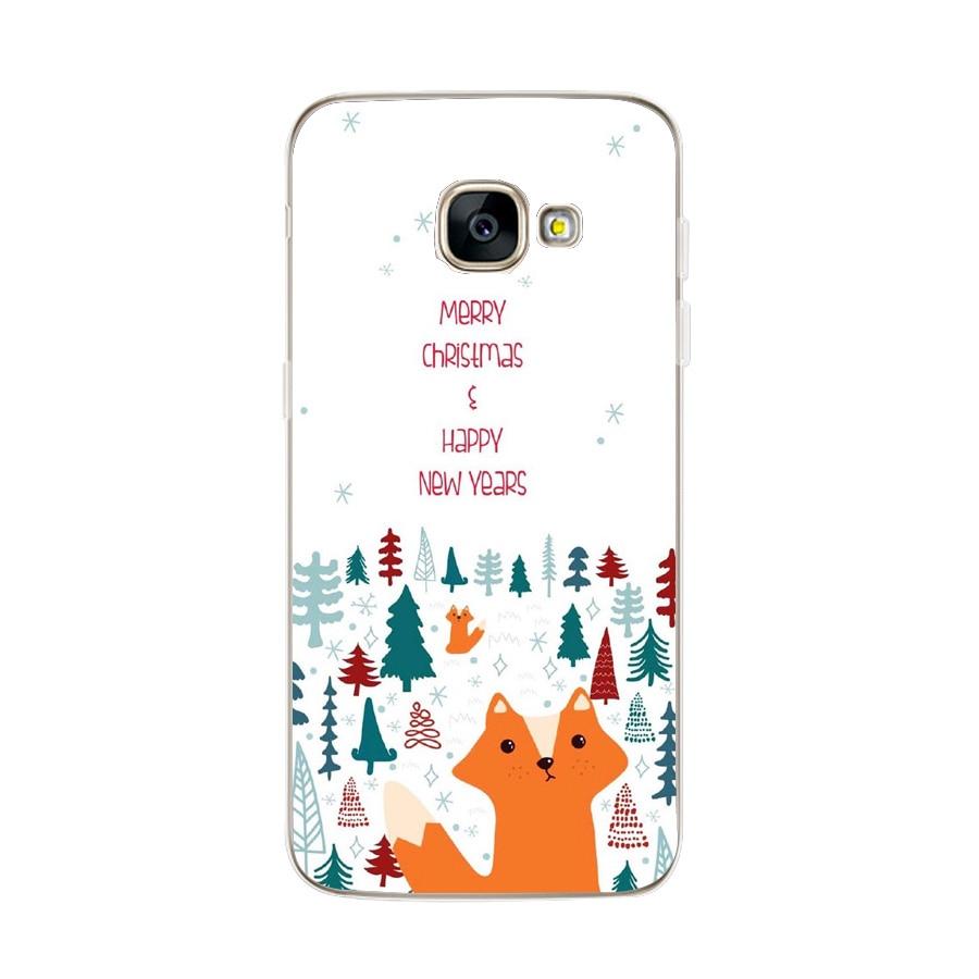 For Samsung Galaxy S9 S8 Plus Case Soft Merry Christmas Back Coque For Samsung A3 A5 2017 J530 Cute Santa Phone Cover Capas