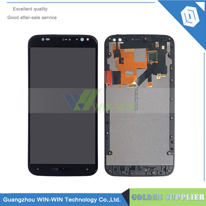 5pcs/lot Black/White For motorola Moto X Style LCD Display with Touch Panel Digitizer Assembly + Frame Free Shipping  5pcs lot for motorola moto x style x3s x3 style xt1570 lcd display touch screen digitizer assembly with frame free dhl
