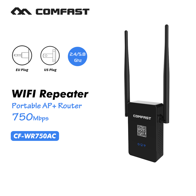 WIFI Router 11AC 750Mbps Dual Band 2 4G 5G Wireless Repeater Router comfast wi fi Router