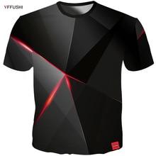 YFFUSHI 2018 Male 3d t shirt Fashion Summer T Top Streatwear Men Cool geometry Pyramid Hip Hop Tees Plus Size 5XL
