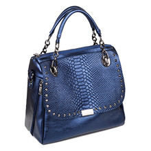 2016 European Fashion Genuine Leather Bags Women Crocodile Pattern Handbags Tote Shoulder Bag Casual Crossbody Messenger Bags