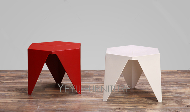 Minimalist Modern Design Plastic Low Small Side Table, Living Room End  Corner Table, Kids