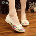 Fashion chinese embroidered shoes women cheongsam pan kou wedge heel ladies shoes woman oxford Shoes for women pumps female