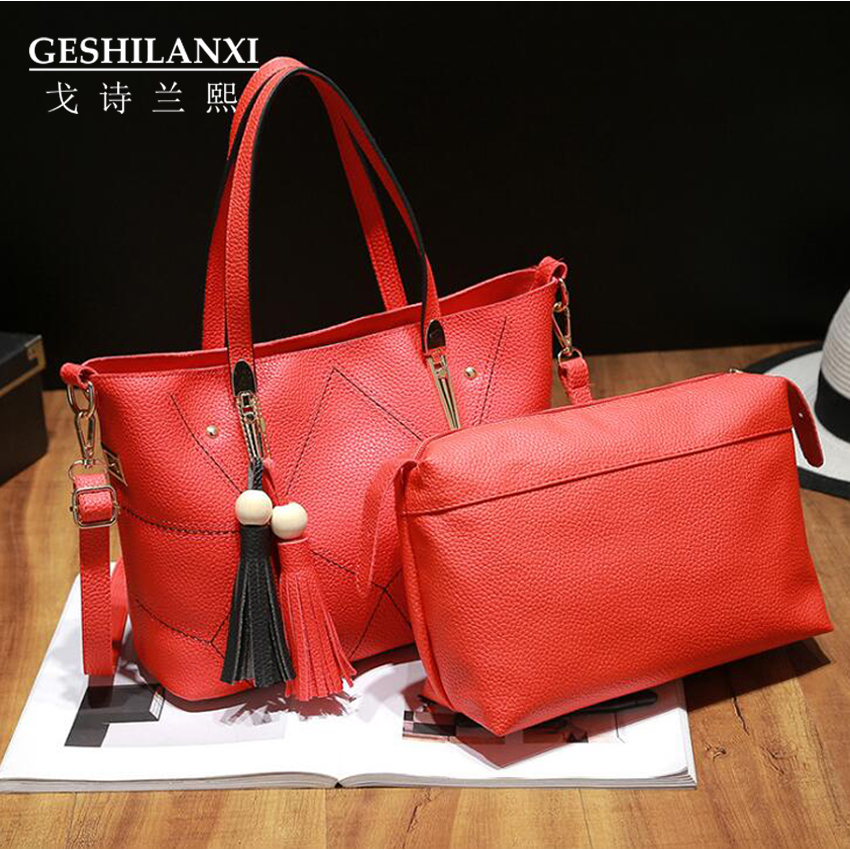 cheap authentic designer handbags 44pd  Hot sale fashion women bags Original designer handbag PU women bag  Two-piece suit women&