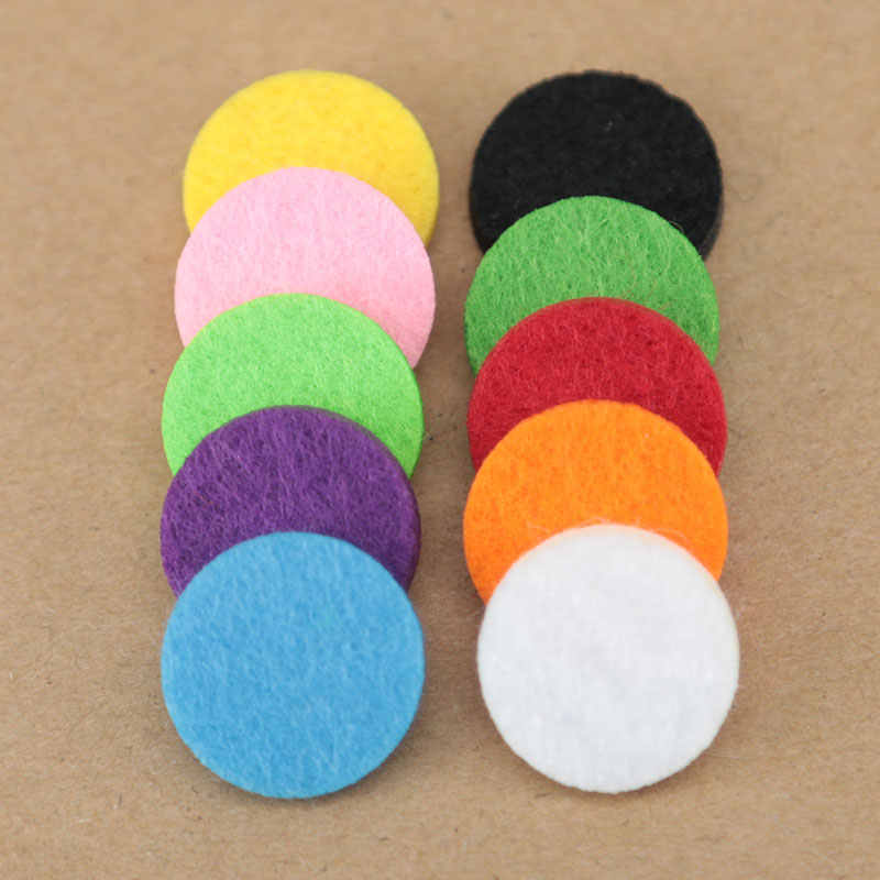 20pcs Colorful 17mm Round Essential Oils Diffuser Locket Pads Perfume Aroma Locket Replacement Pads for 25mm Diffuser locket