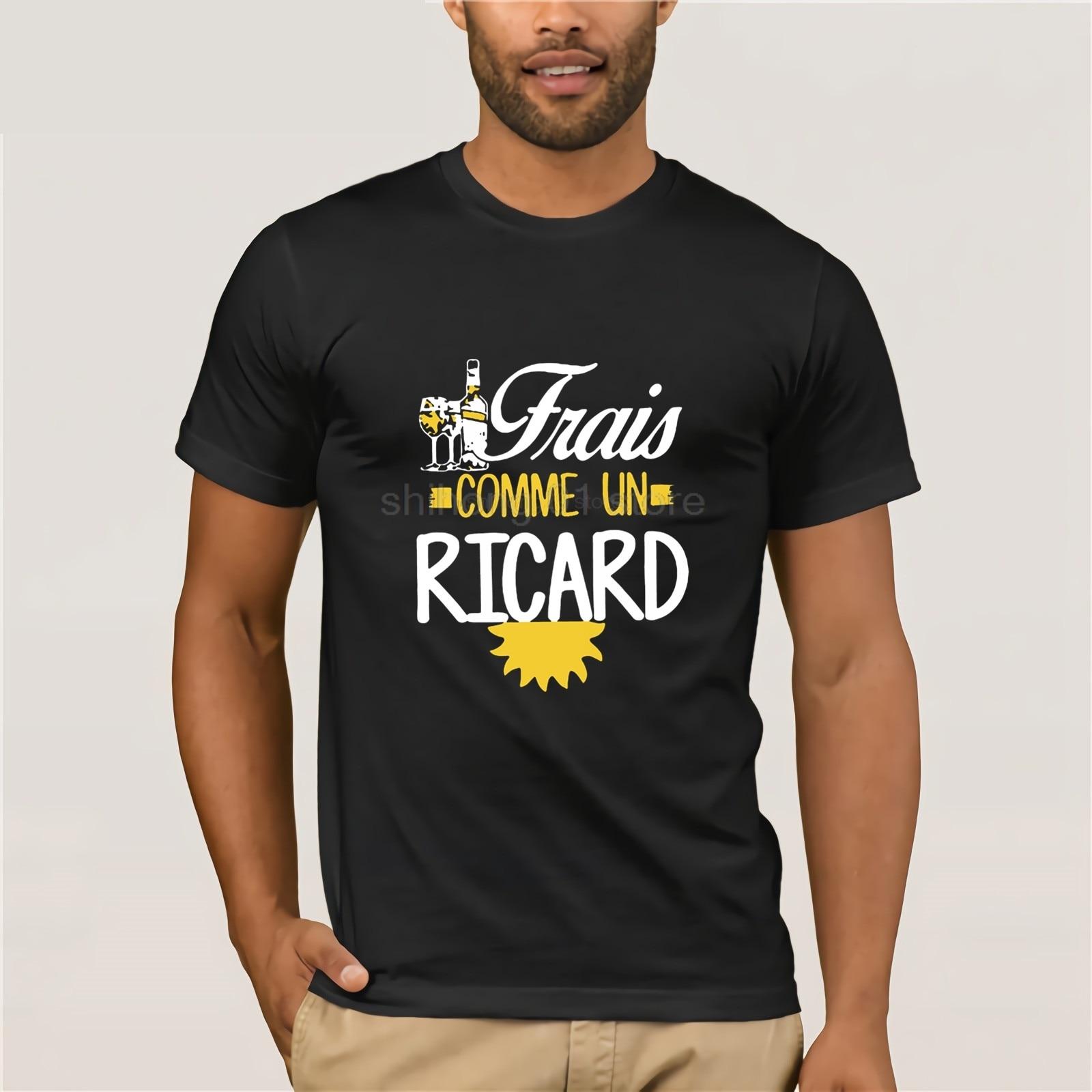 100% coton o-cou personnalisé imprimé hommes T-Shirt Frais comme un ricard vin femmes T-Shirt