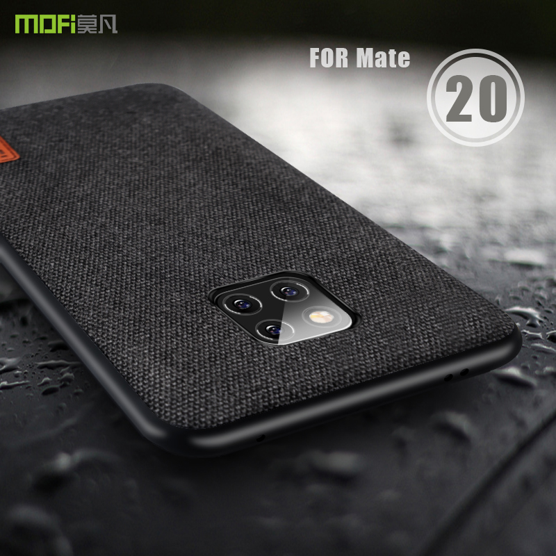 reputable site 7f2fd 9f368 for huawei mate 20 pro case cover MOFI mate 20 fabric Back cover Case for  huawei mate 20 pro Soft edge full Cover frosted Case
