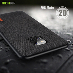 for huawei mate 20 pro case cover MOFI mate 20 fabric Back cover Case for huawei mate 20 pro Soft edge full Cover frosted Case