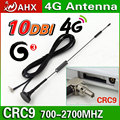 10dbi antena 700-2700 MHz 3G 4G Antena CRC9 Conector para GSM CDMA, WCDMA, TD-SCDMA Cable de Extensión 3 M RG174