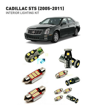 Led interior lights For Cadillac sts 2005-2011 18pc Led Lights For Cars lighting kit automotive bulbs Canbus Error Free