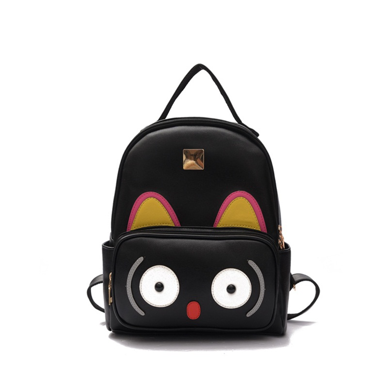 women backpack zipper fashion polyester pu leather panealled two Gray black pink bolsos mujer sac a