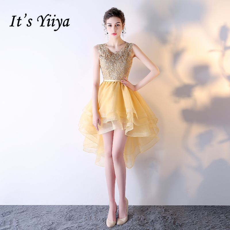 It's YiiYa 2018 New Sleeveless Simple Embroidery Knee Length Dinner   Bridesmaids     Dresses   Party Short Formal   Dress   LX238