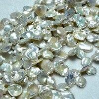 Бесплатная доставка белый пресноводный жемчуг Кеши бусины для изготовления ювелирных изделий Diy браслет