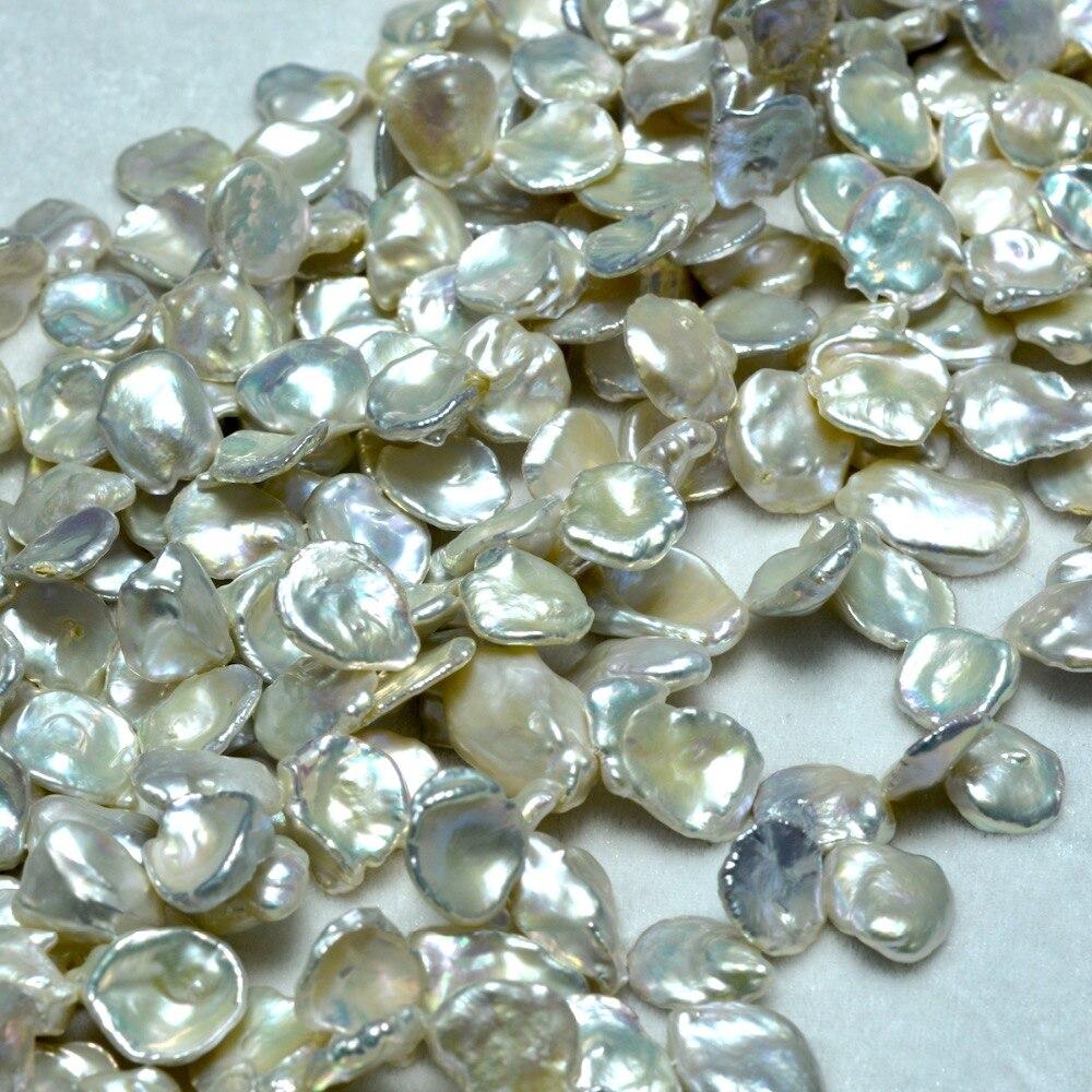 Free Shipping White Freshwater Keshi Pearl Beads For Jewelry Making Diy Bracelet все цены