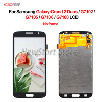 For Samsung Galaxy Grand 2 Duos G7102 LCD Display Touch Screen Assembly 5.25 No Frame For Samsung G7102 G7105 G7106 G7108 lcd