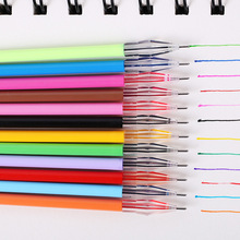 12 Pcs/Lot Diamond Head Refill Creative Stationery Candy Color Roller Ball Gel Pen The Core 0.38mm Office School Supplies