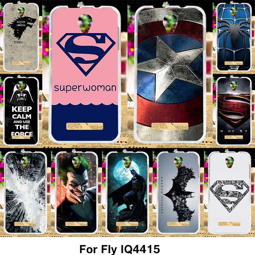 TAOYUNXI Silicone Phone Cover Case for Fly IQ4415 quad Era Style 3 IQ 4415 4.5 inch Case Soft TPU Cover Captain America Superman