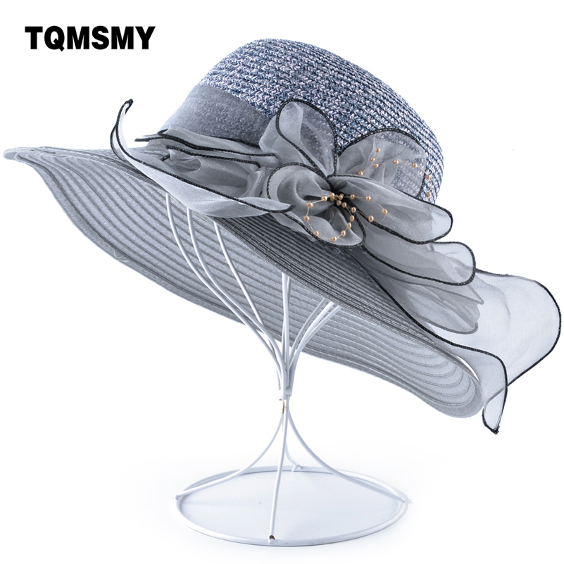 Buy Summer Flowers sun Hat women's Beach cap pearls Bucket caps Ladies Wide Brim Shade straw hats for women Panama chapeau femme for only 14.82 USD