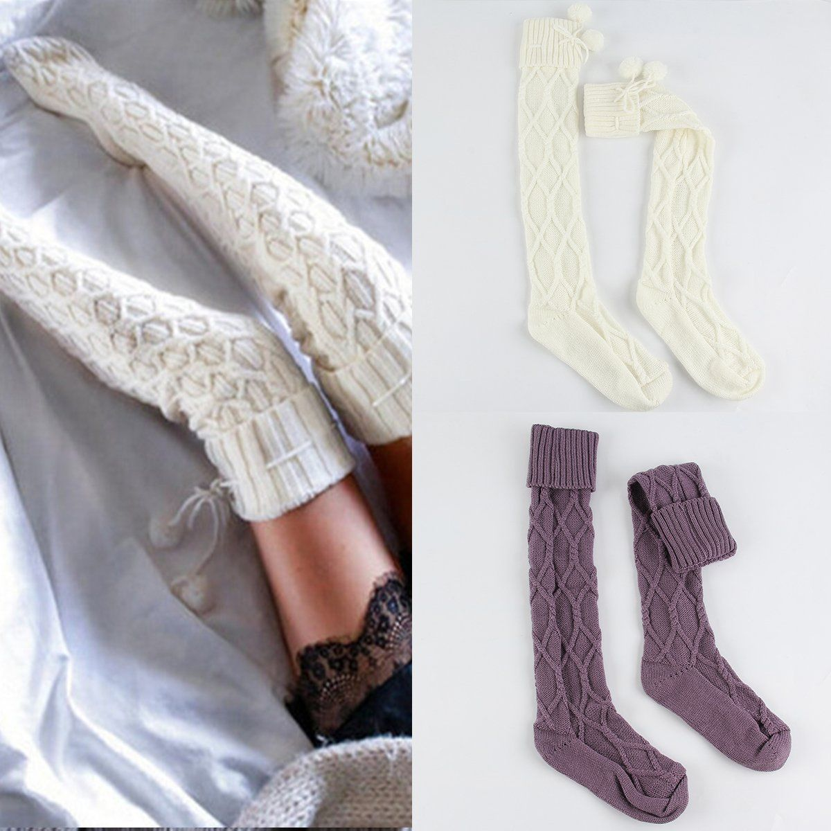 Perfecto Crochet Patrón De Calcetines Largos Libres Elaboración ...