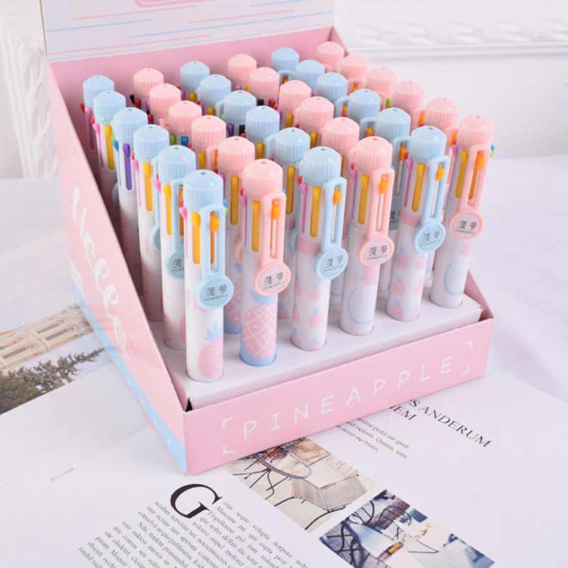 Фото 10 шт./лот свежий ананас 8 цветов Шариковая ручка Написание рисования шариковая