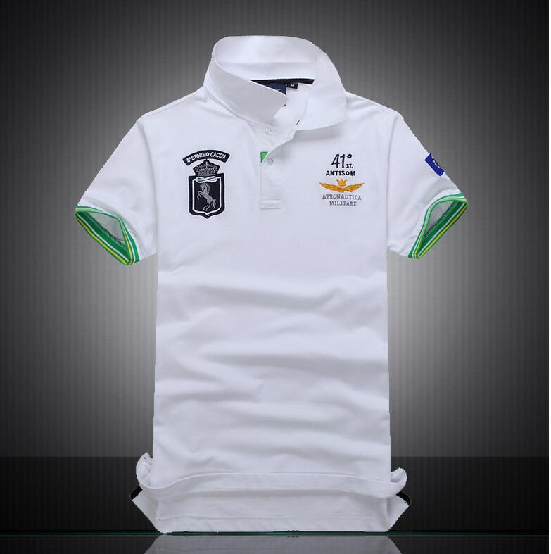 Tops & Tees Brand New Main Push Cotton Short-sleeved Polo Shirt Lapel Mens Fashion Casual Cotton Mesh Pique